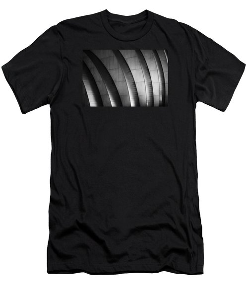 Kauffman Performing Arts Center Black And White Men's T-Shirt (Athletic Fit)