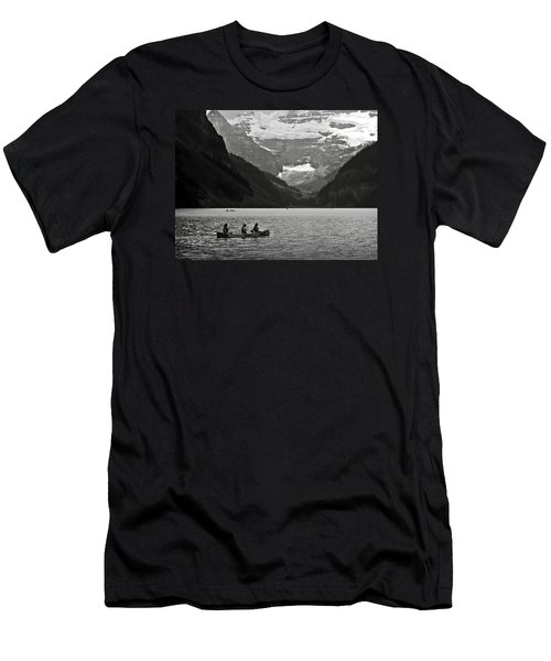 Kayak On Lake Louise Men's T-Shirt (Athletic Fit)
