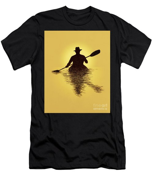 Kayaker Sunset Men's T-Shirt (Athletic Fit)