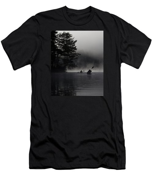 Kayaking In The Fog Men's T-Shirt (Athletic Fit)