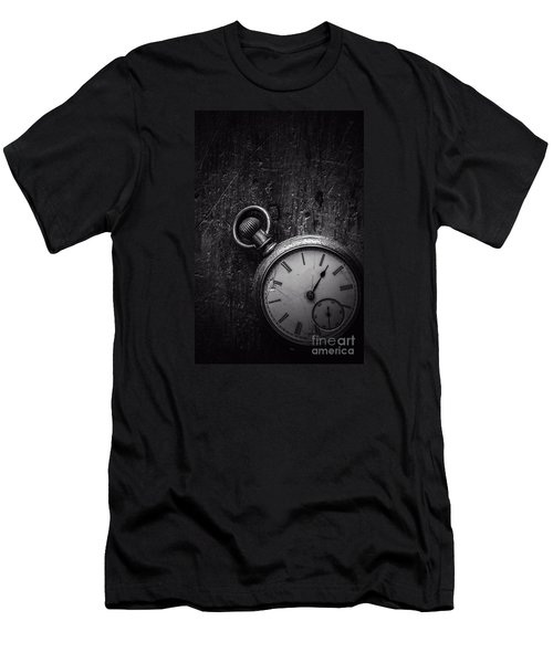 Keeping Time Black And White Men's T-Shirt (Athletic Fit)