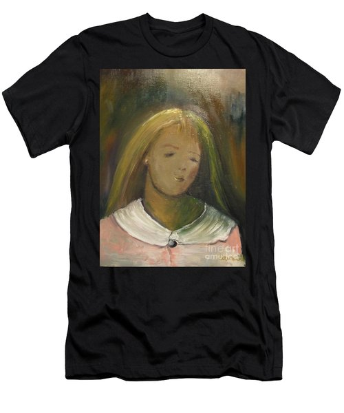 Men's T-Shirt (Athletic Fit) featuring the painting Kelly by Laurie Lundquist