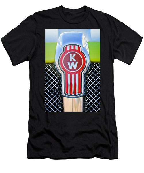 Kenworth Truck Emblem -1196c Men's T-Shirt (Slim Fit) by Jill Reger