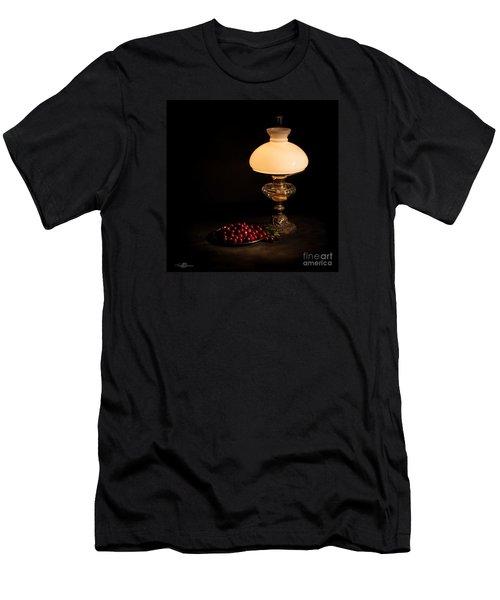 Kerosene Lamp Men's T-Shirt (Slim Fit) by Torbjorn Swenelius