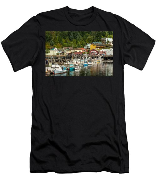 Ketchikan Harbor Men's T-Shirt (Slim Fit) by Steven Bateson