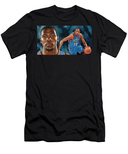 Kevin Durant Artwork Men's T-Shirt (Athletic Fit)