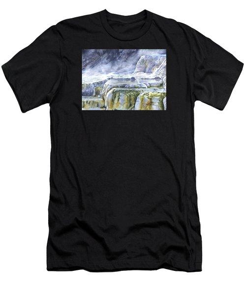Killdeer Palisades - Mammoth Hot Springs Men's T-Shirt (Athletic Fit)