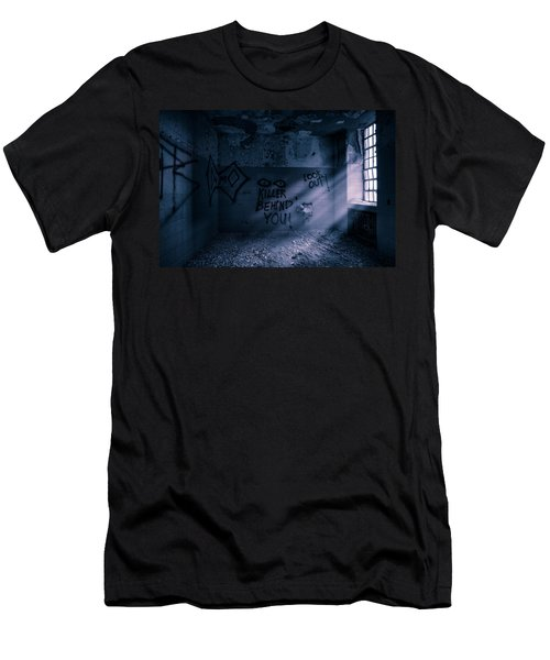 Men's T-Shirt (Slim Fit) featuring the photograph Killer Behind You - Abandoned Hospital Asylum by Gary Heller