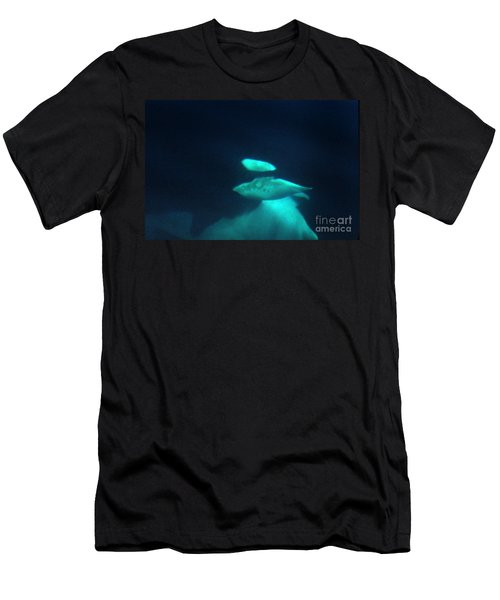 Men's T-Shirt (Slim Fit) featuring the photograph Killer Whales Orcas Under Water  Off The San Juan Islands 1986 by California Views Mr Pat Hathaway Archives