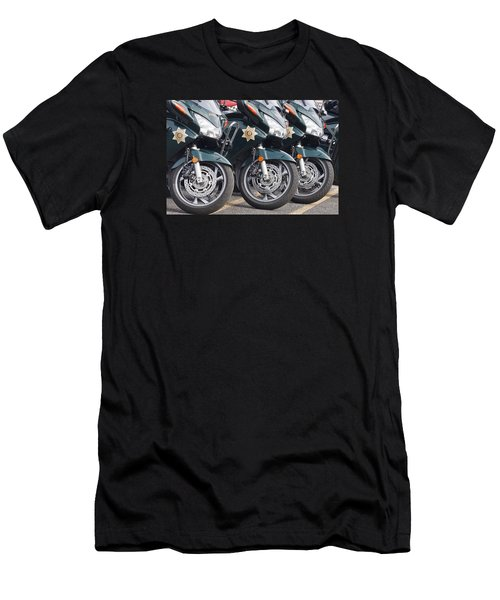 King County Police Motorcycle Men's T-Shirt (Athletic Fit)