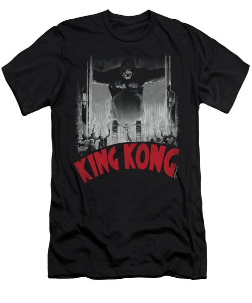 King Kong - At The Gates Poster Men's T-Shirt (Athletic Fit)