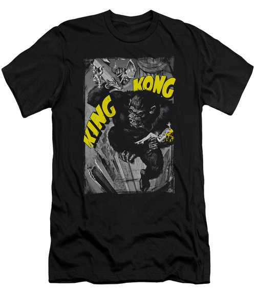 King Kong - Crushing Poster Men's T-Shirt (Athletic Fit)