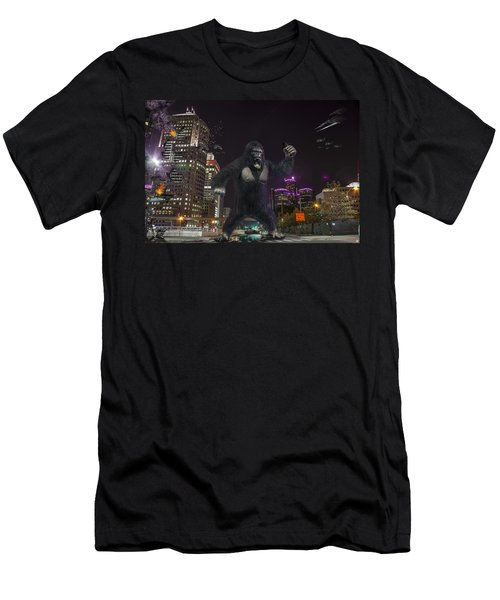 Men's T-Shirt (Slim Fit) featuring the photograph King Kong On Jefferson St In Detroit by Nicholas  Grunas