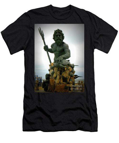 King Neptune Statue Men's T-Shirt (Athletic Fit)