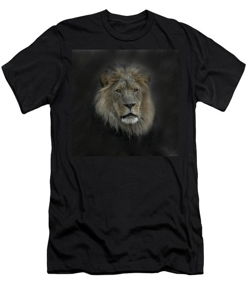 King Of Beasts Portrait Men's T-Shirt (Athletic Fit)