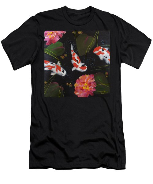 Men's T-Shirt (Slim Fit) featuring the painting Kippycash Koi by Judith Rhue