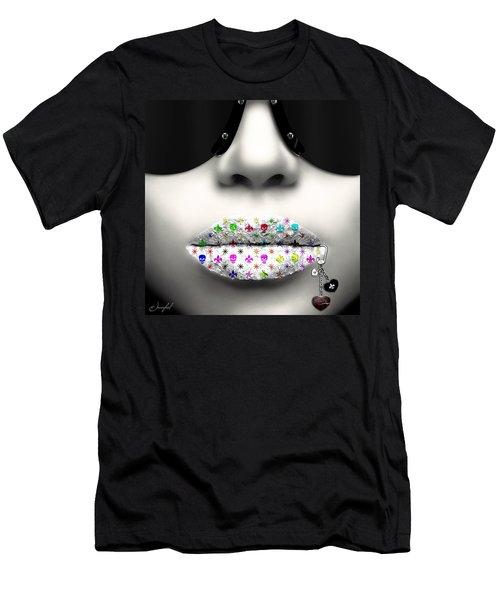 Kiss Me Silver Men's T-Shirt (Athletic Fit)