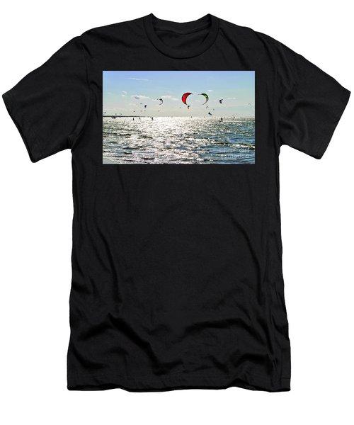 Kitesurfing In The Sun Men's T-Shirt (Athletic Fit)