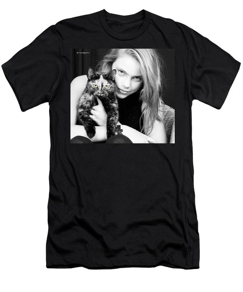 Men's T-Shirt (Athletic Fit) featuring the photograph Kitten Eyes by Stwayne Keubrick