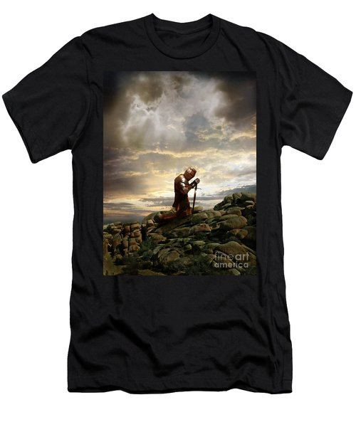 Kneeling Knight Men's T-Shirt (Athletic Fit)