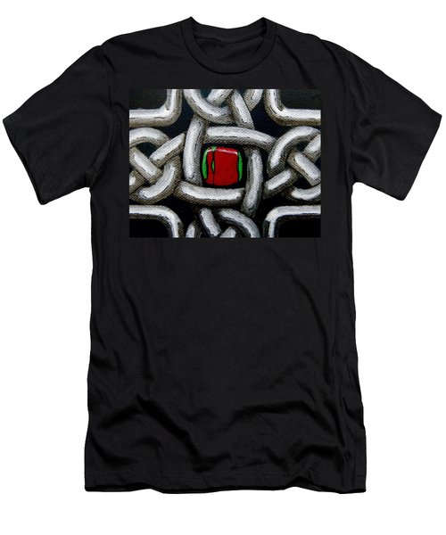 Knotwork With Gem Men's T-Shirt (Athletic Fit)