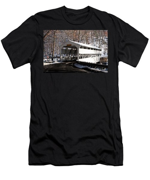 Knox Bridge In The Snow Men's T-Shirt (Athletic Fit)