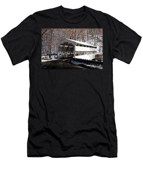 Knox Bridge In The Snow Men's T-Shirt (Slim Fit) by Michael Porchik