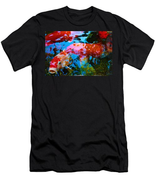 Men's T-Shirt (Athletic Fit) featuring the painting Koi Fish by Joan Reese