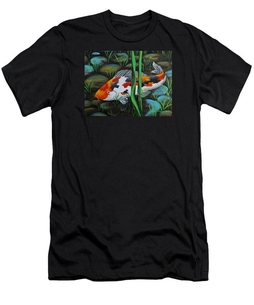 Koi Fish Men's T-Shirt (Slim Fit) by Katherine Young-Beck