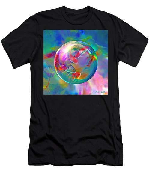 Koi Pond In The Round Men's T-Shirt (Athletic Fit)