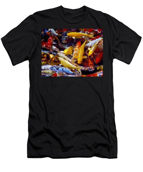 Men's T-Shirt (Slim Fit) featuring the photograph Koi Pond by Marie Hicks