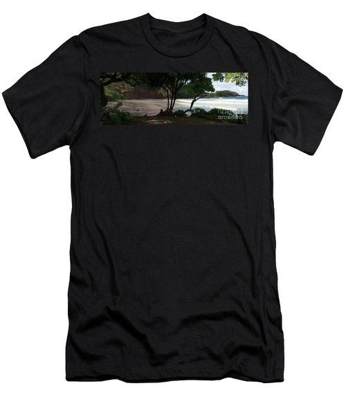 Koki Beach Hana Maui Hawaii Men's T-Shirt (Slim Fit) by Sharon Mau