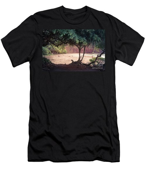 Koki Beach Kaiwiopele Haneo'o Hana Maui Hikina Hawaii Men's T-Shirt (Slim Fit) by Sharon Mau
