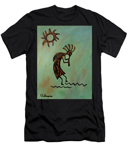Kokopelli Flute Player Men's T-Shirt (Athletic Fit)
