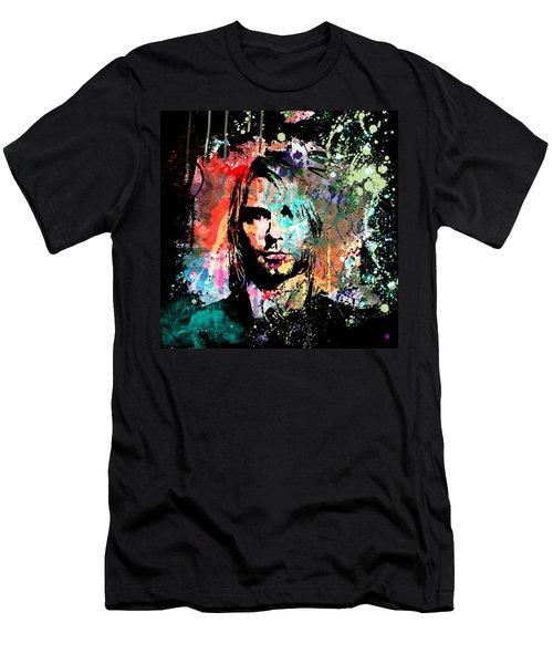 Kurt Cobain Portrait Men's T-Shirt (Athletic Fit)
