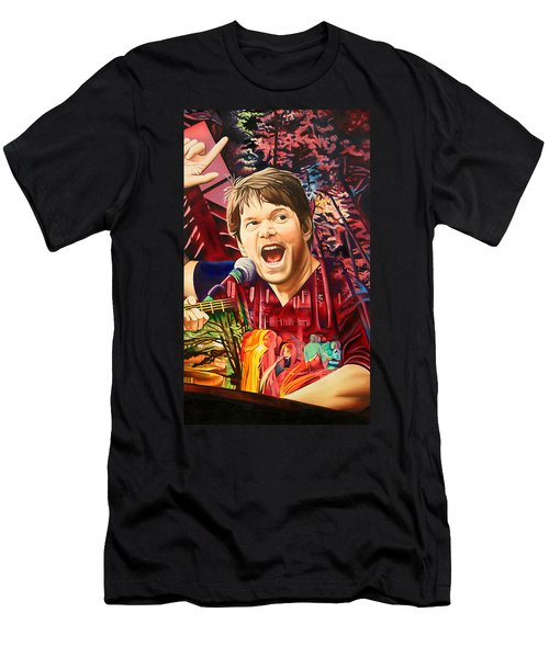 Men's T-Shirt (Slim Fit) featuring the painting Kyle Hollingsworth At Hornin'gs Hideout by Joshua Morton