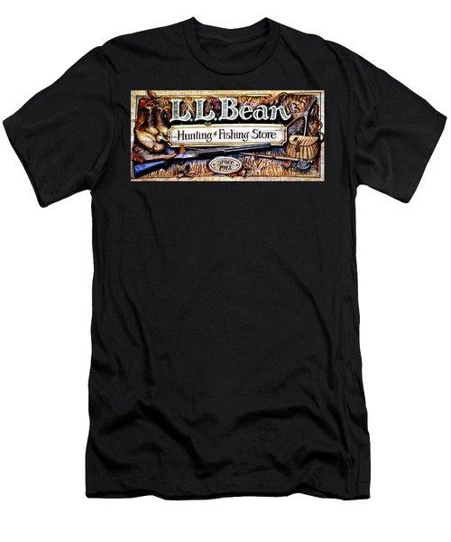 L. L. Bean Hunting And Fishing Store Since 1912 Men's T-Shirt (Slim Fit) by Tara Potts