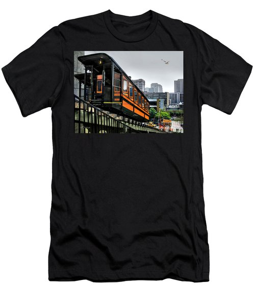 Los Angeles Angels Flight Men's T-Shirt (Slim Fit) by Jennie Breeze