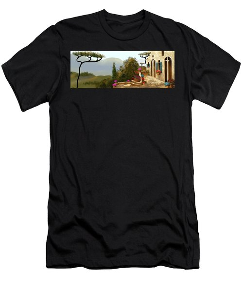 La Bella Terrazza Men's T-Shirt (Athletic Fit)