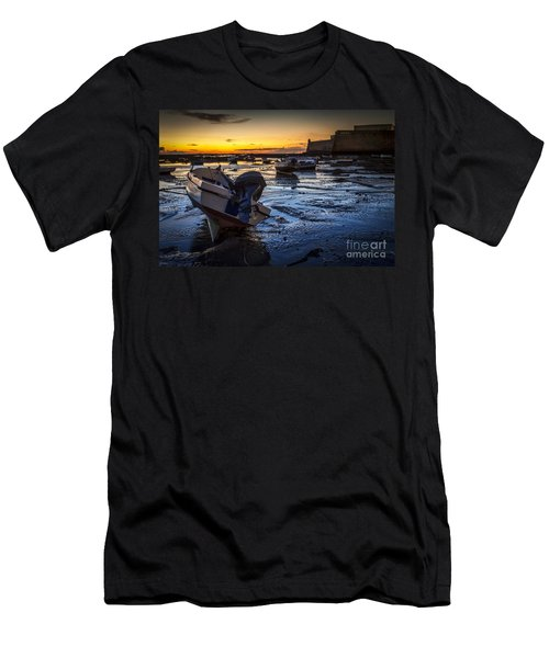 La Caleta Beach Cadiz Spain Men's T-Shirt (Athletic Fit)