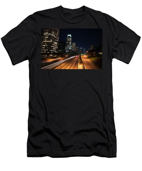 La Down Town Men's T-Shirt (Slim Fit) by Gandz Photography