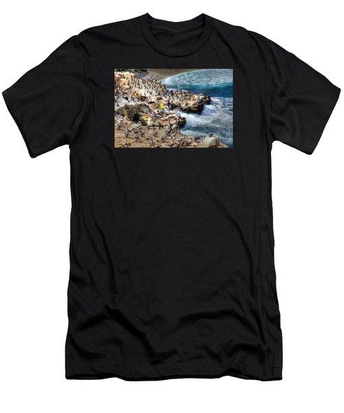 La Jolla Cove Wildlife Men's T-Shirt (Athletic Fit)