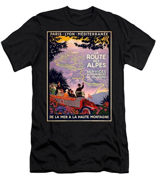 La Route Des Alpes Men's T-Shirt (Athletic Fit)