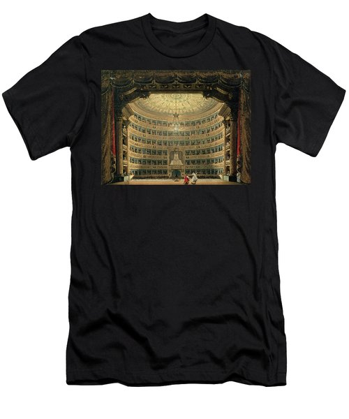 La Scala, Milan, During A Performance Men's T-Shirt (Athletic Fit)