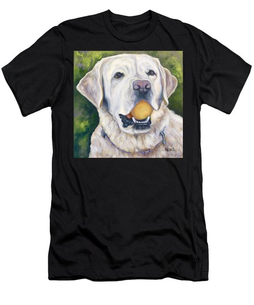 Lab With Orange Ball Men's T-Shirt (Athletic Fit)
