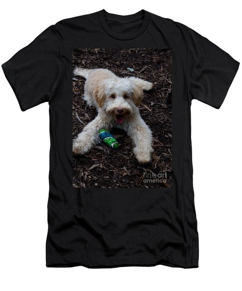 Labradoodle At Play Men's T-Shirt (Athletic Fit)