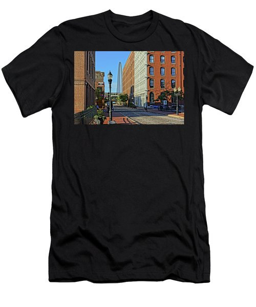 Laclede's Landing Just North Of The Arch Men's T-Shirt (Athletic Fit)