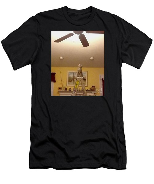Ladder Cat Men's T-Shirt (Athletic Fit)