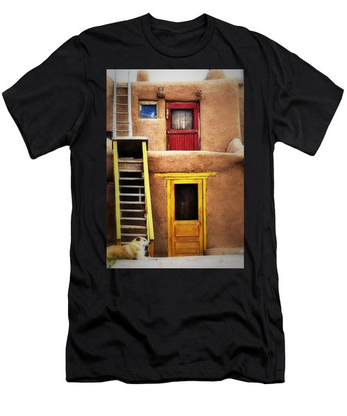Ladders Doors And The Dog Men's T-Shirt (Athletic Fit)