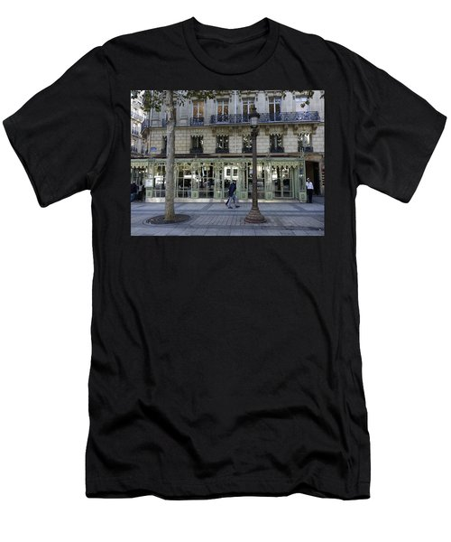 Laduree On The Champs De Elysees In Paris France  Men's T-Shirt (Athletic Fit)
